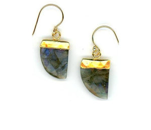 Tusk Stone Earring Gold Fill: Labradorite (EG749LD) SALE athenadesigns Default Title
