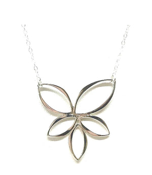 Large Lotus Charm Necklace: Sterling (NCP/LTS) SALE athenadesigns