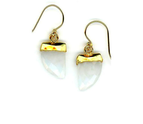 Tusk Stone Earring Gold Fill: Moonstone (EG749MN)