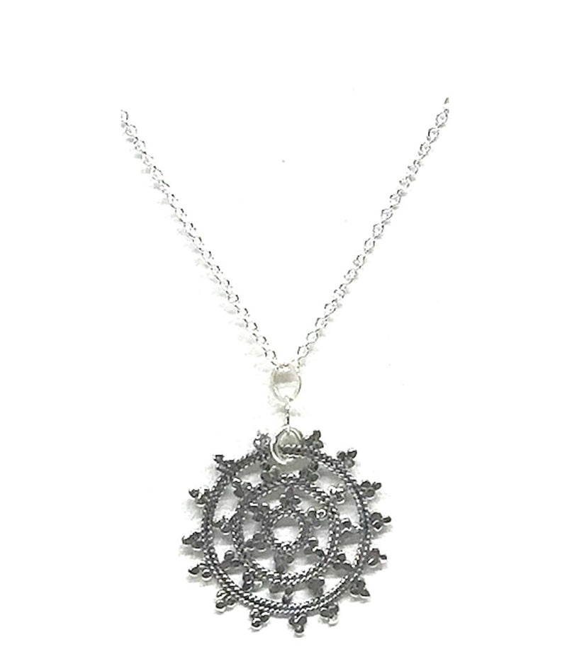 Mandala Necklace: Small Mandala: Sterling Silver (NCP/MNDLS) SALE athenadesigns Silver - NCP/MNDLS