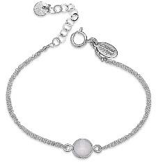 8mm Bezel Set Moonstone Bracelet Sterling-Available in Gold Fill (BC2/760MN)