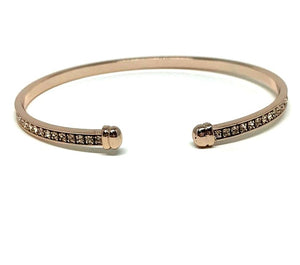 Thin Open Crystal Cuff Bracelet: Rose Gold:Also Gold (BNRG4500) SALE athenadesigns Rose Gold - BNRG4500