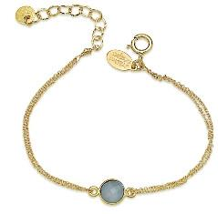 8mm Bezel Set Chalcedony Bracelet Gold Fill:Available in Sterling (BCG2/760SG)