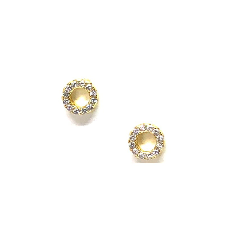 Small Open Circle Stud: Gold Vermeil (EGP4605/S) Also Rose Gold Vermeil Earrings athenadesigns Gold- EGP4605/S