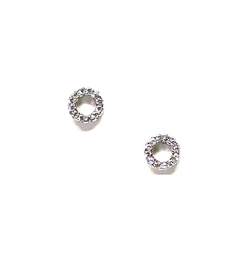 Small Open Circle Stud: Sterling Silver (EP4605/S) Earrings athenadesigns Default Title