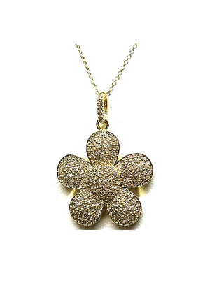 Charm Necklace: Flower: Small: Gold - Also in Rose Gold (PNCG/FLW) SALE athenadesigns Gold - PNCG/FLW
