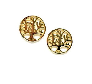 Tree of Life Stud: Gold Vermeil (EGP/TREE) SALE athenadesigns Default Title