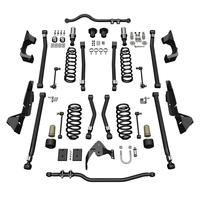 Jeep JK 2 Door Alpine CT4 Suspension System 4 Inch Lift No Shocks 07-18 Wrangler JK TeraFlex