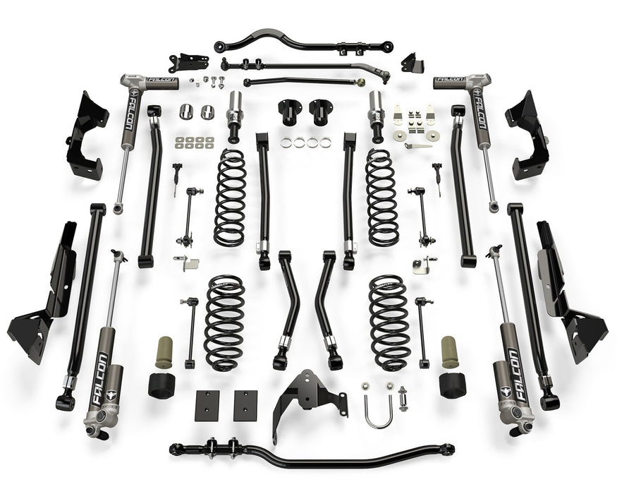 Jeep JK 2 Door Alpine CT6 Suspension System 6 Inch Lift w/ Falcon 3.1 Shocks 07-18 Wrangler JK TeraFlex