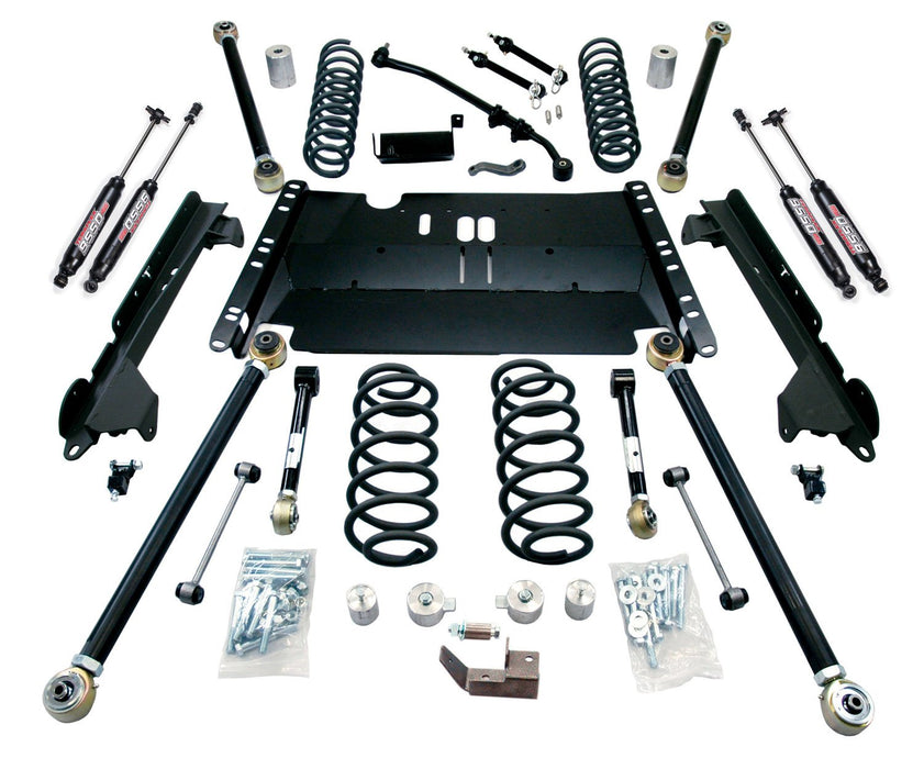 Jeep LJ Unlimited 4 Inch Enduro LCG Long Flexarm Suspension System w/ 9550 Shocks 97-06 Wrangler LJ TeraFlex