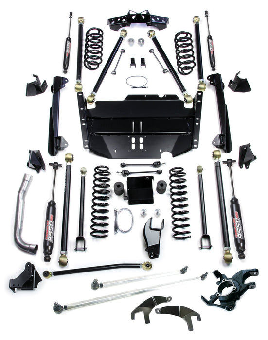 Jeep LJ Unlimited 5 Inch Pro LCG Long Flexarm Suspension System w/ High Steer and 9550 Shocks 97-06 Wrangler LJ TeraFlex