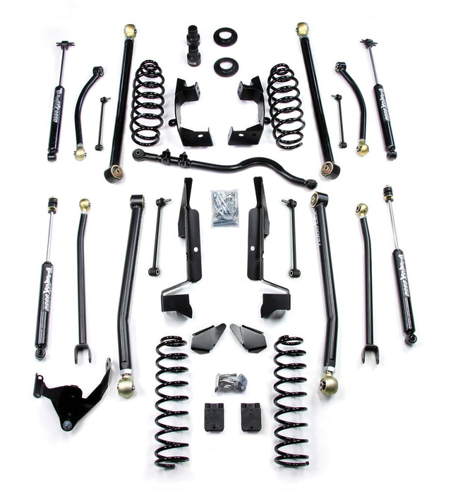 Jeep JK 4 Door 2.5 Elite LCG Long FlexArm Lift Kit W/9550 Shocks 07-18 Wrangler JK Unlimited TeraFlex
