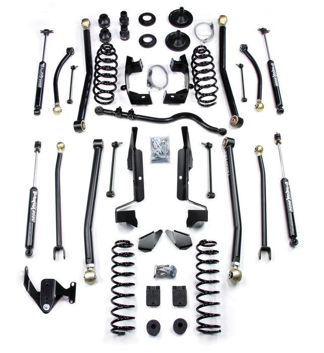 Jeep JK 4 Door 4 Elite LCG Long FlexArm Lift Kit W/9550 Shocks Right Hand Drive 07-18 Wrangler JK Unlimited TeraFlex