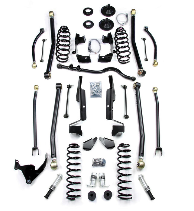 Jeep JK 4 Door 4 Elite LCG Long FlexArm Lift Kit W/SpeedBumps 07-18 Wrangler JK Unlimited TeraFlex