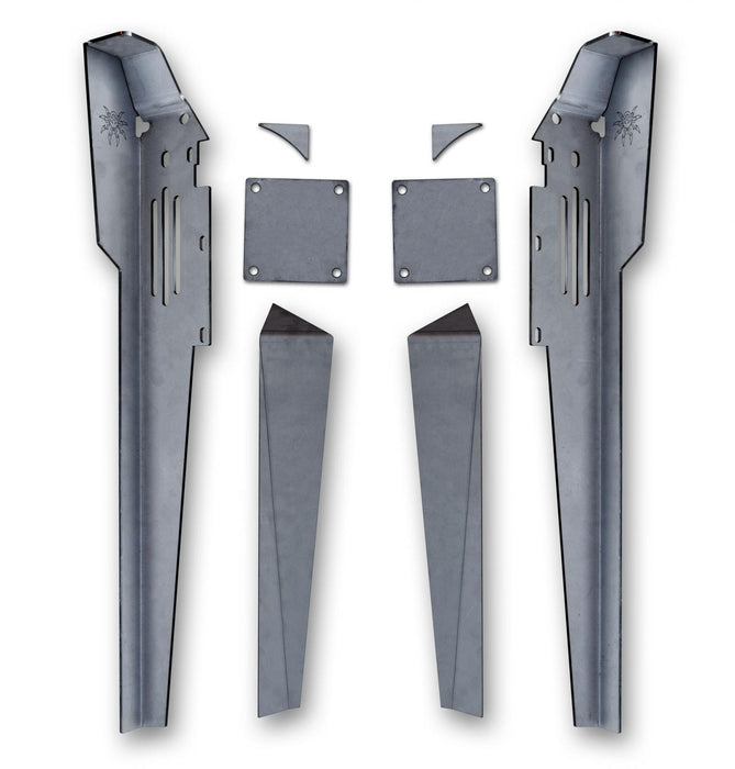 YJ Lower A-Pillar Kit Bare Steel 13-18-011 Poison Spyder