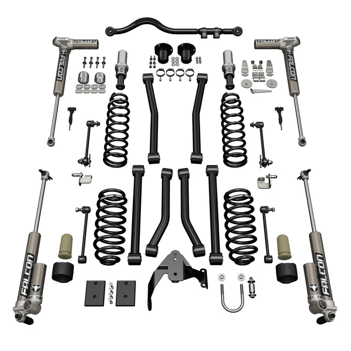 Jeep JKU 4 Door 3 Inch Sport ST3 Suspension System w/ Falcon 3.1 Shocks 07-18 Wrangler JKU TeraFlex
