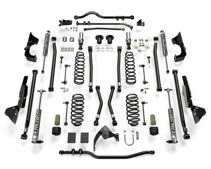 Jeep JKU 4 Door Alpine CT6 Suspension System 6 Inch Lift w/ Falcon 2.1 Shocks 07-18 Wrangler JKU TeraFlex