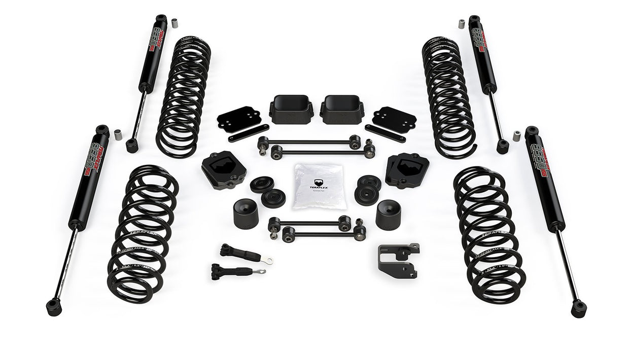 JL 3.5 Inch Coil Spring Base Lift Kit and 9550 VSS Twin-Tube Shocks For 19-Current Jeep JL Wrangler 2 Door TeraFlex