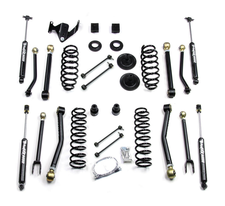 Jeep JK 2 Door 3 Inch Lift Kit W/8 FlexArms And 9550 Shocks 07-18 Wrangler JK TeraFlex