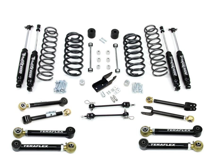 Jeep TJ TJ 3 Inch Lift Kit W/8 FlexArms And 9550 Shocks Right Hand Drive 97-06 Wrangler TJ TeraFlex