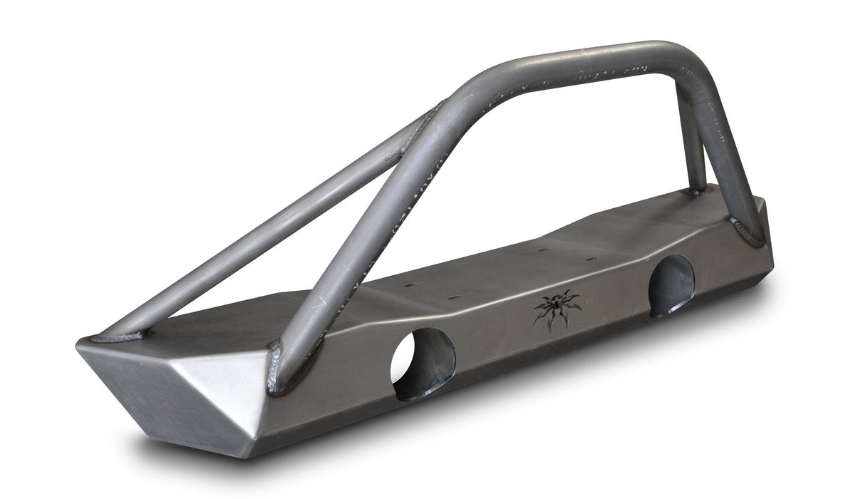 JK Brawler Lite Front Bumper With Brawler Bar And Tube Gussets Bare Steel 17-59-010-BT Poison Spyder