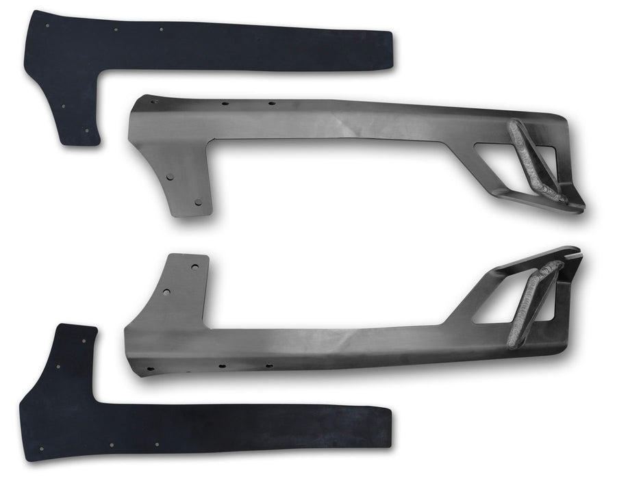 JK A-Pillar 50 Inch Light Bar Mounts Bare Steel 45-28-R50 Poison Spyder