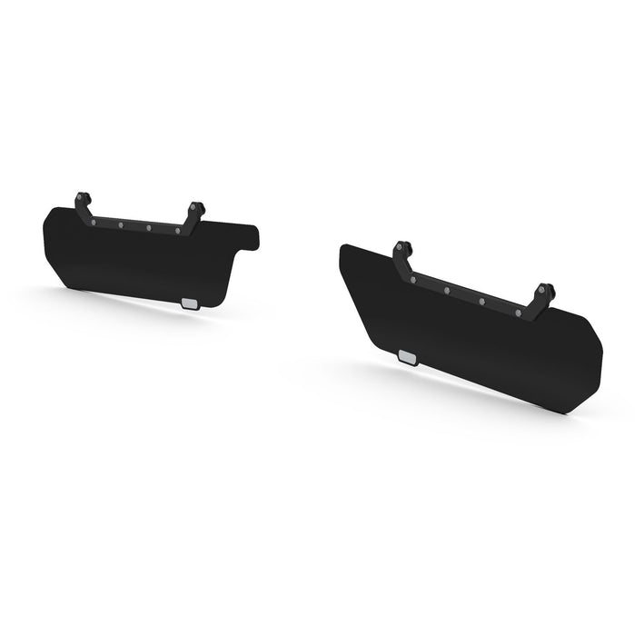 Jeep JK / JKU Axis Secondary Opaque Black Front Visor Kit Pair 07-18 Wrangler JK/JKU TeraFlex