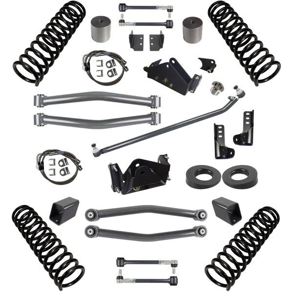 JK 3.0 Inch Lift Stage 2 Suspension System 07-18 Wrangler JKU 4 DR Synergy MFG