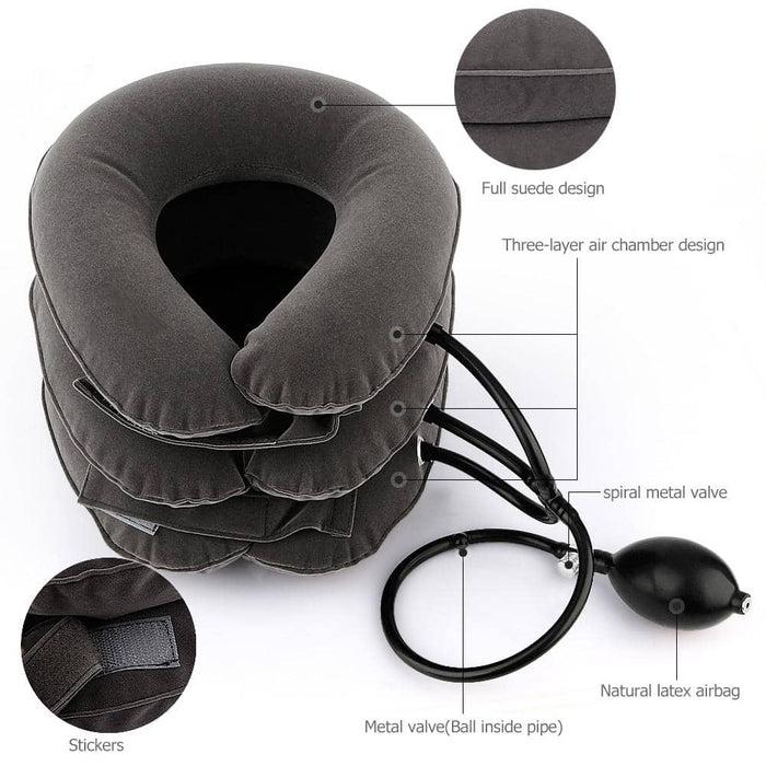 Inflatable Air Cervical Neck Traction Pillow