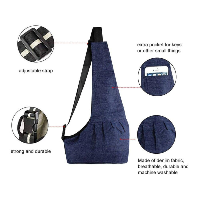 Shoulder Sling Pet Carrier for Small Animals - Zenogram Shop LLC