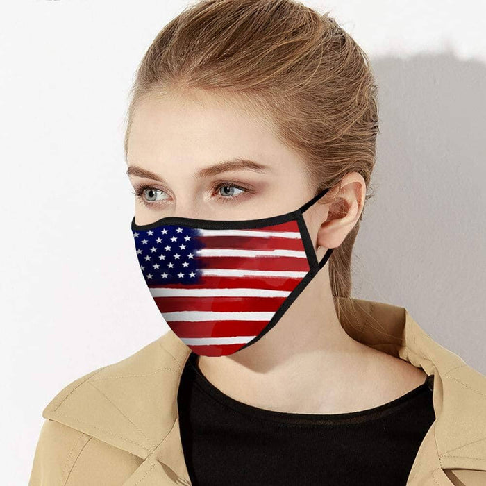 American Flag Face Mask - Made in USA - Zenogram Shop LLC