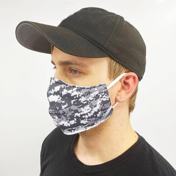 Gray Camo Face Mask - Zenogram Shop LLC