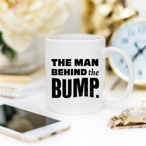 Funny Coffee Mugs, The Man Behind The Bump, Best - Zenogram Shop LLC