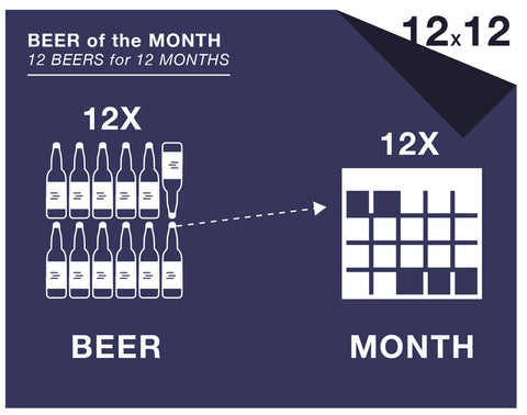12 beers a month /  12-month subscription