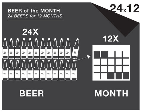 24 beers a month / 12-month subscription