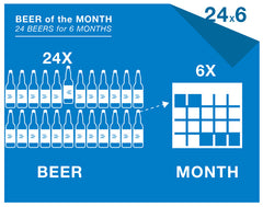 24 beers a month / 6-month subscription