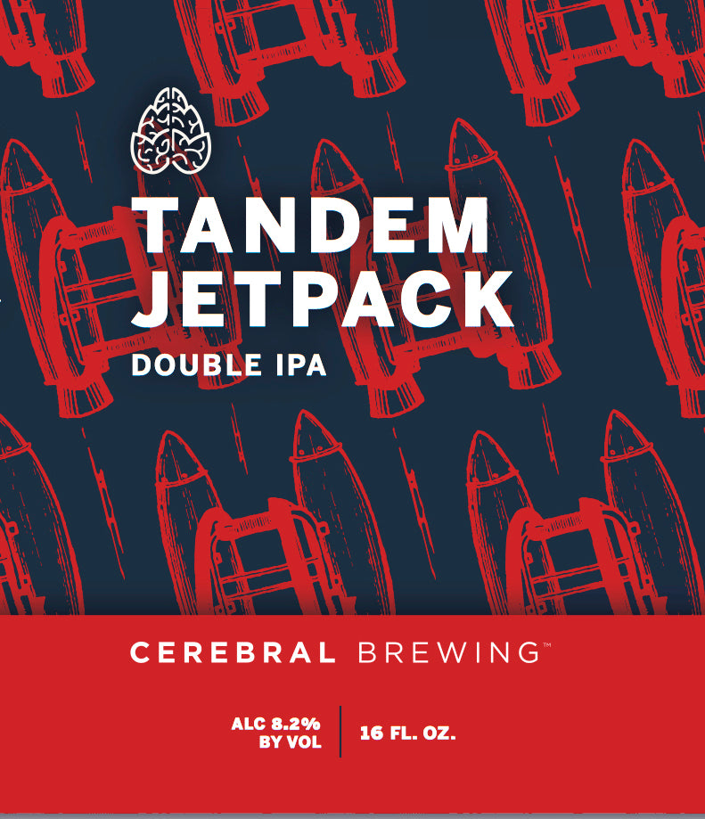 Cerebral Tandem Jetpack Double IPA (16oz Can)