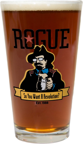 Rogue Revolution Man Pint Glass