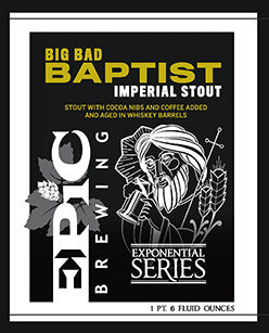 Epic Big Bad Baptist Imperial Stout (22oz)