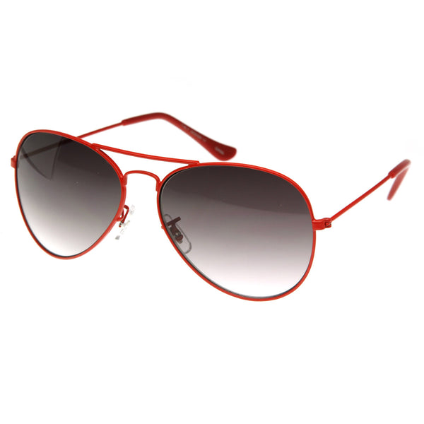 Color Coated Classic Metal Aviator Sunglasses