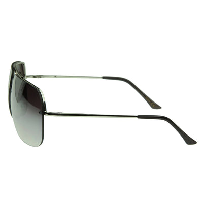 Thin Frameless Metal Aviators Square Sunglasses