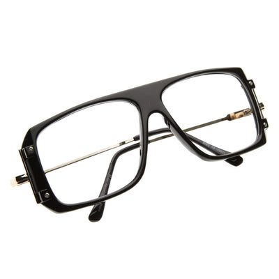 Vintage Inspired Square Clear Lens Glasses