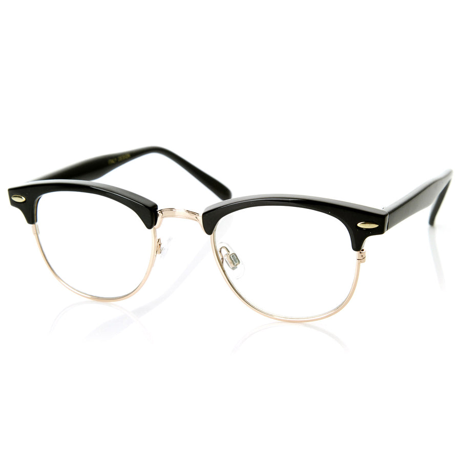 04520afc73 Optical Quality Horned Rim Clear Lens RX able Half Frame Horn Rimmed G -  sunglass.la