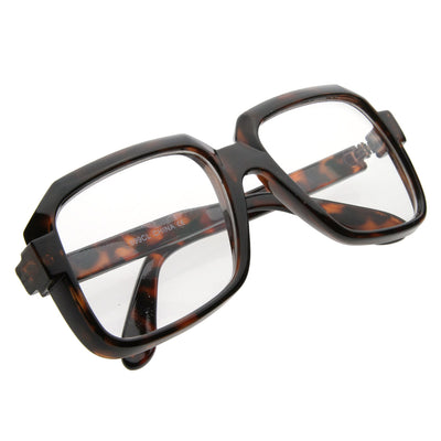 Thick Frame 80s Squared Clear Glasses