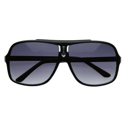 Turbo Sport Large Plastic Aviator Sunglasses