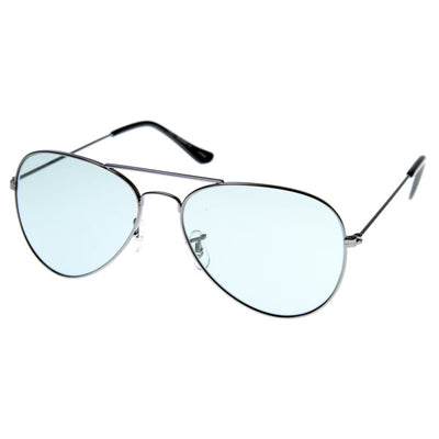 PHOTOSUN XDF Photochromatic Metal Aviator Sunglasses w/ Corning Lens