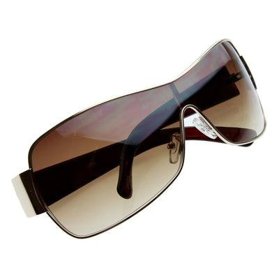 Designer Inspired Modern Shield Sunglasses