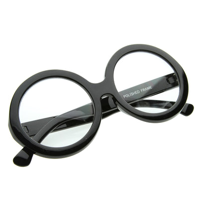 Large Round Oversized  Bold  Womens Fashion Clear Lens Glasses