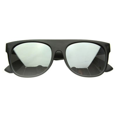 Color Flat Top Horn Rimmed Sunglasses