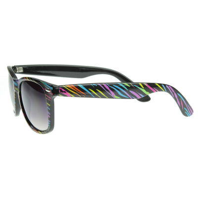 Fruit Stripe Rainbow Multi Color Horn Rimmed Sunglasses Shades